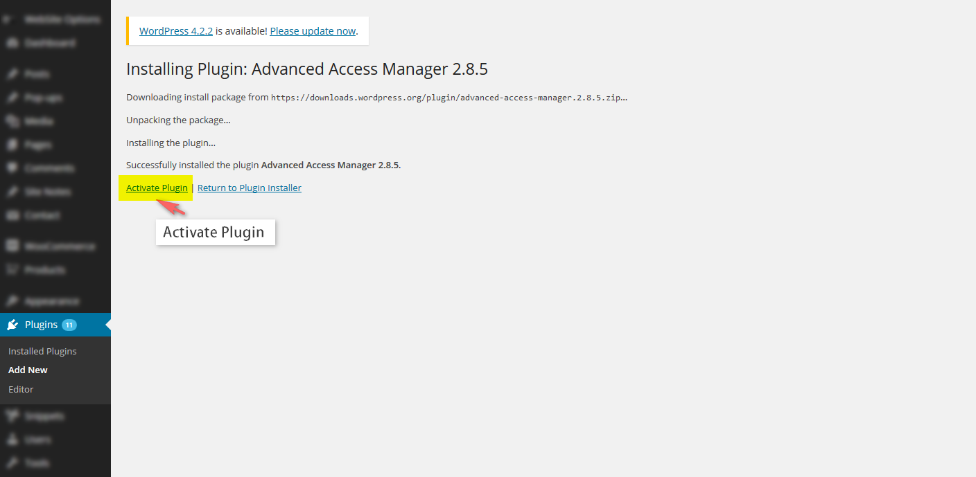 How to use plugin Advanced Wordpress Access Manager