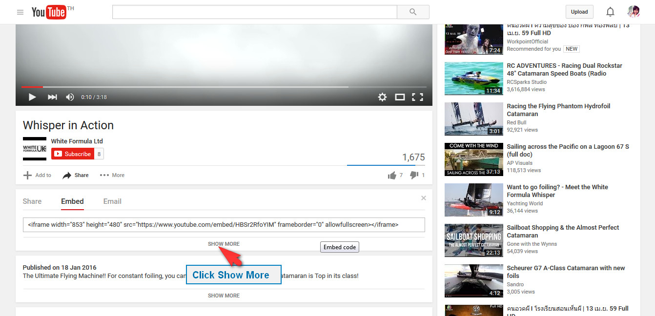Resize your youtube video display in wordpress | Video Resize