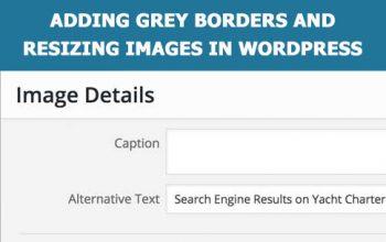 Resizing images in WordPress