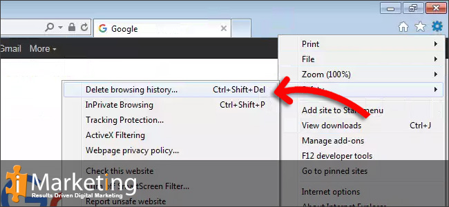Step 3 Click on Delete browsing history in the submenu