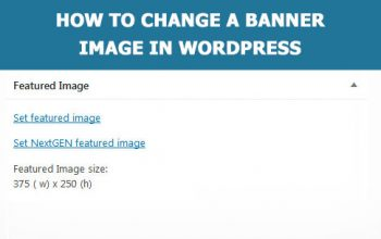 change a banner image in WordPress