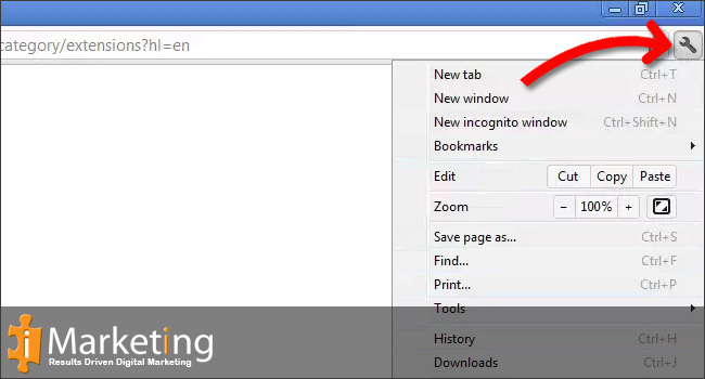Clear browsing data and the cache on Google Chrome