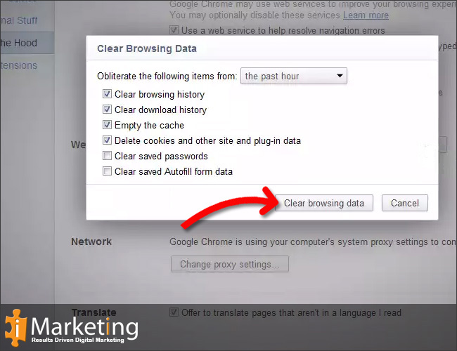 Step 3 Select an option from the dropdown menu, according to which time of period you want to clear your data.