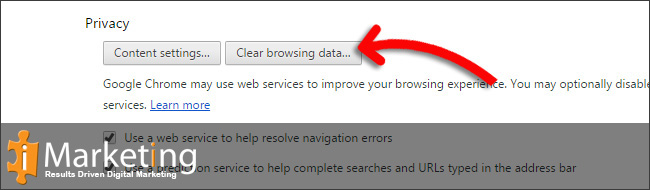 Step 4 Click on Clear browsing data...