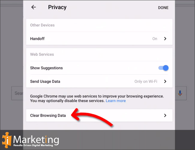 Click on Clear browsing data.
