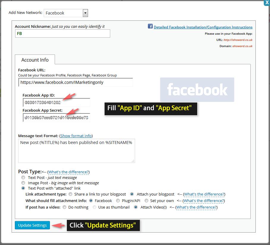 SNAP – Social Network Auto Poster | Facebook Configuration