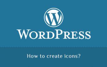Create icons in WordPress