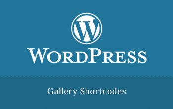 Gallery Shortcodes in WordPress