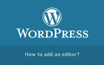 Add an editor in WordPress