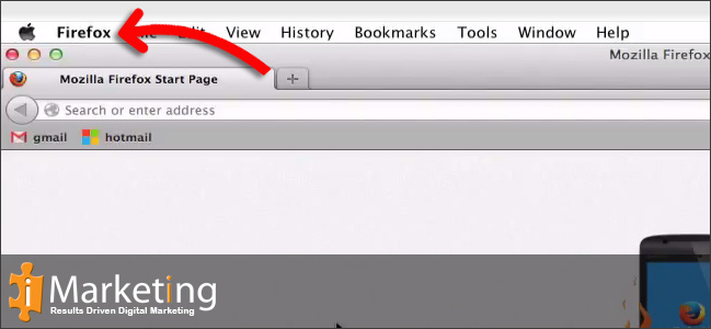 Step 1 Click on Firefox in the menu bar
