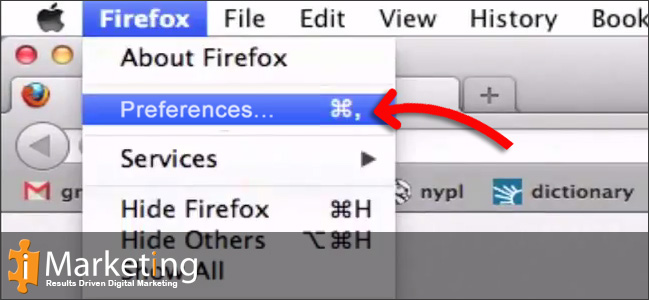 Step 2 Click on Preferences