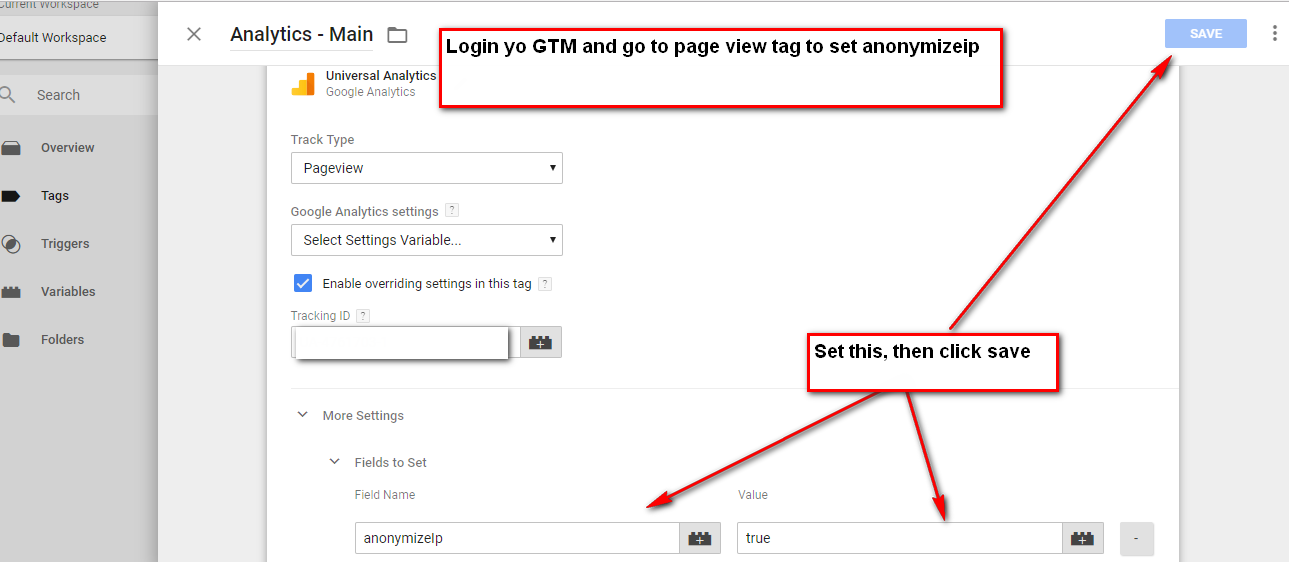 IP Anonymization for Google Tag Manager