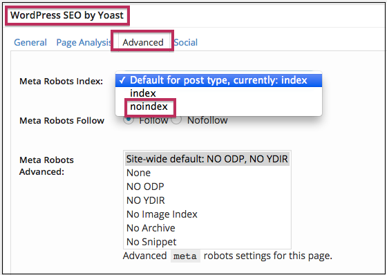 no-index-using-yoast-wordpress-seo