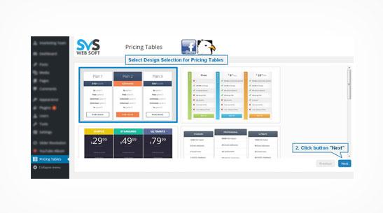 SVS Pricing Tables Plugin