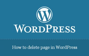 How to delete page in wordpress