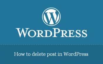 How to delete post in WordPress