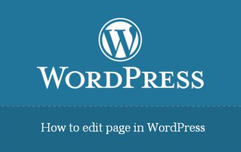 How to edit page in WordPress