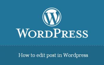 How to edit post in WordPress