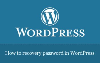 How to recovery password in WordPress