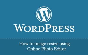 How to image resize using Online Photo Editor