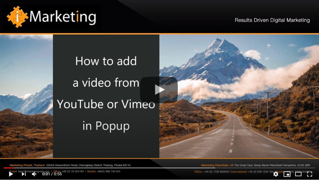 add a video popup
